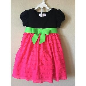 Bonnie Baby Bow Tiered Short Sleeve Dress Set